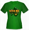 Kiss Me I'm Irish Shamrock Girl's T-Shirt