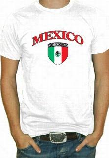 International Socccer Shirts - Mexico Crest -tshirt Mens)