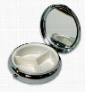 Compact 3 Compartment Pill Box