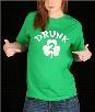 Irish Shamrock Drunk Girl's T-Shirt (Kelly Green)