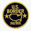 US Border Patrol Iron On Patch
