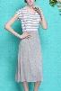 All Day Long Stripe Suspender Dress