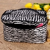 New Fashion Women Makeup Bag Square Zipper Around Organizer Handbag Splicing Color Mini Cosmetic Bag