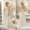 New Stylish Women Sexy V Neck Backless Beaded Lace Patchwork Chiffon Wedding Party Maxi Dress