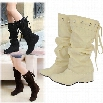 Women's Round Head Height Increasing Heel Boots Winter Autumn Shoes