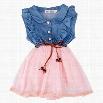 Baby Kids Children Girl's Sleeveless Fancy Party Dress Denim Jeans Dress