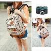 New Fashion Unisex Newspaper Design Print Backpack Schoolbag Shoulder Bag
