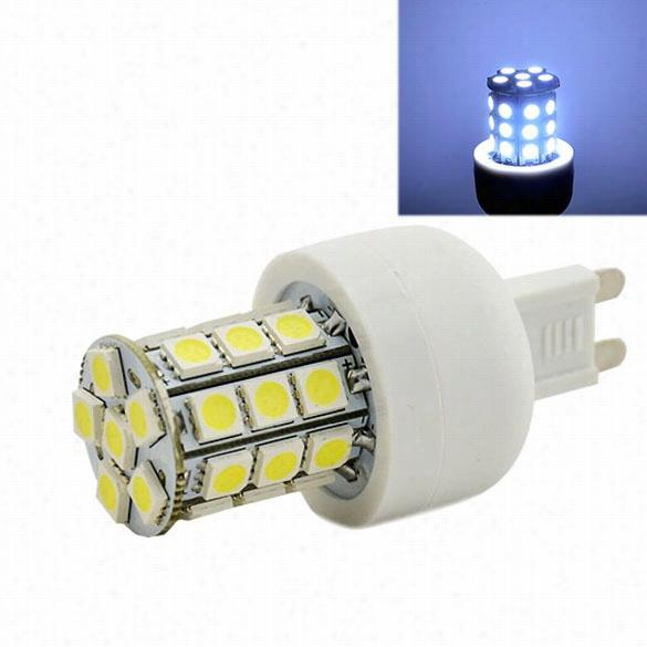 """G9 30 Ssmd5050  Led Corn Light Cold White Bulb Lamp 200v-240v""""5w"""