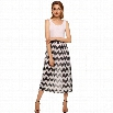 Stylish Lady Women's Casual New Fashion Stripe Sleeveless O-neck Sexy Patchwork Maxi Long Dress