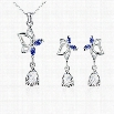 S017-B Fashion Popular 925 Silver Plated Jewelry Sets For Sale Free Shipping