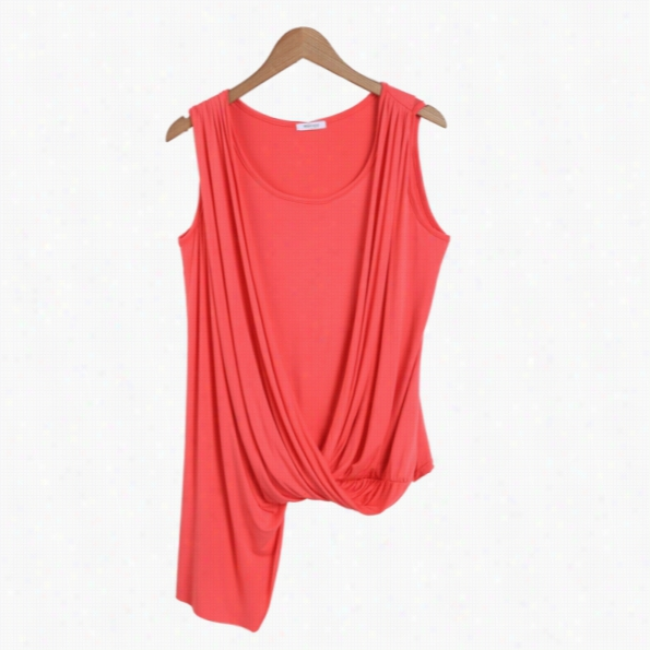 Meaneor New Ladies Women Casual Sleeveless Asmymetric T-shirt Tops