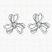 E008 Fashion New Style 925 Silver Plated Earrings Jewelry Free Shipping