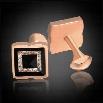 "Men Fashion Square Brass Resin Zircon Wedding Party Gift Cufflinks Gold""Silver"