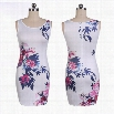 New Stylish Lady Women's Fashion O-Neck Sleeveless Bodycon Slim Dress