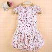 New Style Hot Fashion Baby Kids Girl Children's Back Zipper Cup Sleeve O-neck Dress Sundress