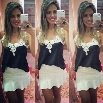New Women's Ladies Lace Collar Chiffon Sleeveless Tops Blouse T-shirt