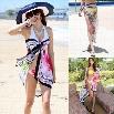 Fashion Lady Women's Sexy Chiffon Printed Beach Scarf Cover-up Sarong Swim Wraps Shawl