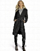 Stylish Ladies Women Cool Lady Casual Wool Blend Long Coat Cardigan Trench Overcoat Outwear with Belt Black
