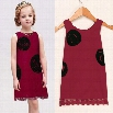 New Cute Kids Girl's Fashion O-Neck Sleeveless Lace Hem Mini Dress