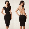 Best Sale New Sexy Women Bodycon Bandage Pencil Dress Backless Evening Party Dress