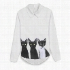 New Sweet Ladies Fashion Animals Print Pullover Long Sleeve Casual Top Blouse