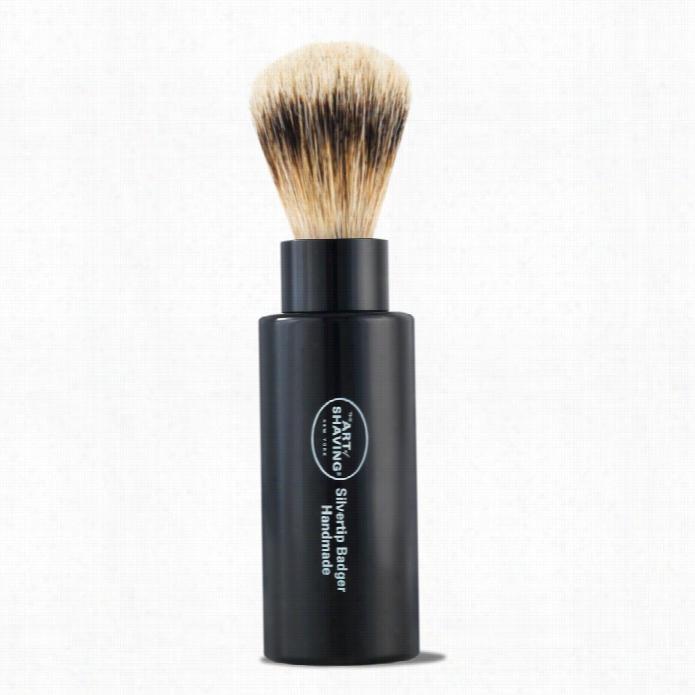 The Art Of Shaving Black Silvertip Turnback Shaving Brush