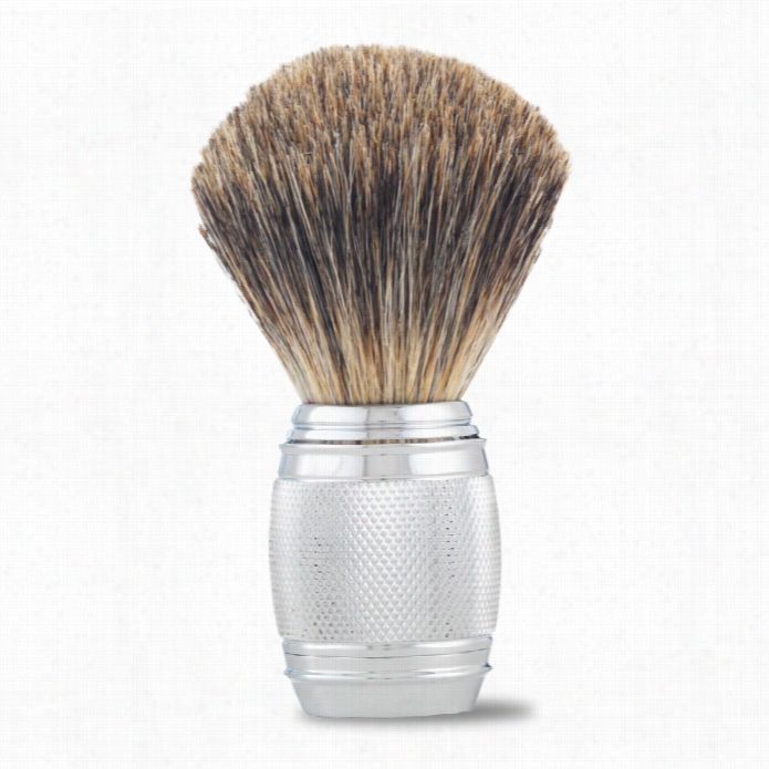 The Art Of Shaving Fusion Chrome Colllectionn Pure Shaving Brush