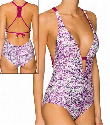 Aefin Rose St. Tropez Swimwear One Piece Plunge Style 16-sttr-151