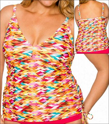 Fantasie Swimwear Bora Bora Halter Tankini Top Amethyst 6067