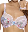 Elomi Edie Bra Underwire Plunge Banded Lace Style 4000