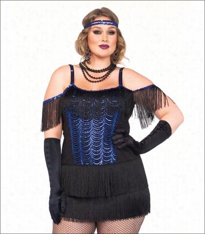 Leg Avenue Two Piece Gatsby Flapper Costume Style 85369x
