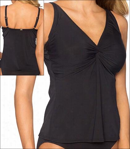 Sunsets Swimwear Black Underwire Twist Front Tankiin Style 77
