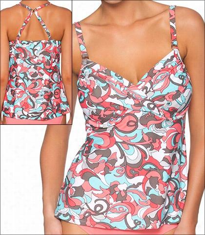 Swim Ssystems Coconutt Grove Swimwear T Op Tanlini-underwire Style 16-cogo-a792
