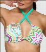 Tara Grinna Zakros Print Slider Halter Swim Top Style 134