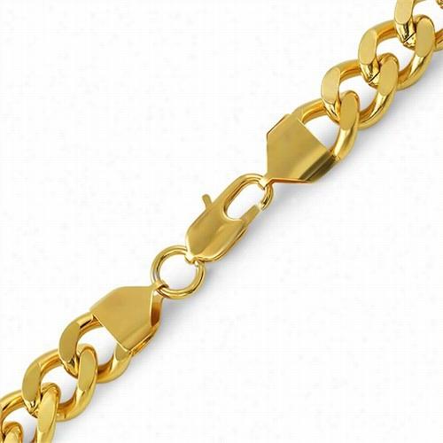 Cuban Ip Gold Sainless Steel Bracelet 12mm