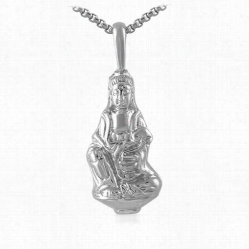 Full Buddha Edtailed Pendant Stainless Steel