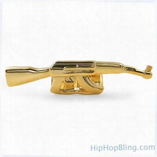 Gold Machine Gun Grillz