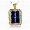 Quad Lab Sapphire Blue Bling Bling Pendant