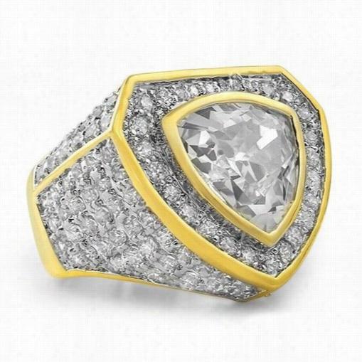 Trillion Custom Goldbl Ing Bling Ring