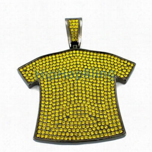 Yellow -shirt Iced Out Pendant