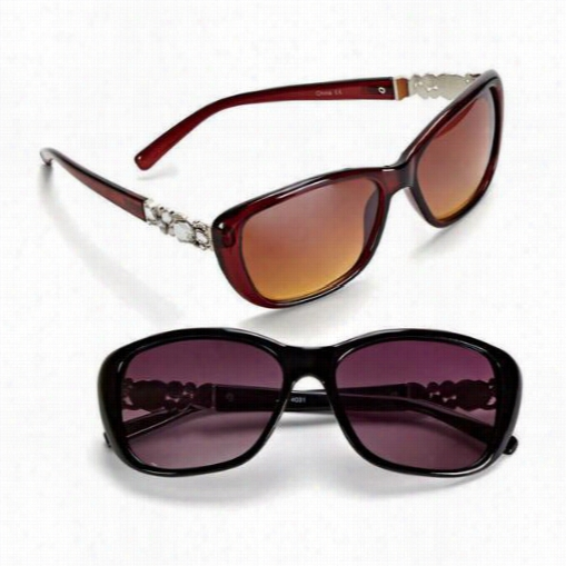 Rhinestone-trim Sunglasses