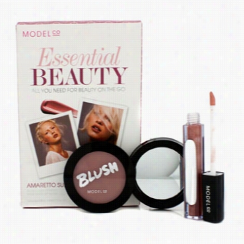 Essentk Al Beaty - Amarettto Sunset (1x Blush Cheek P Owder 1x Shine Ultra Lip Gloss)