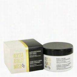 Alyssa Ashley Musk Body Cream By Hubigant, 8.5 Oz Body Cream For Women