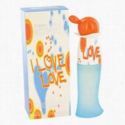 I Love Love Perfume By Moschino, 1 Oz Eau De Toilette Spray For Owmen