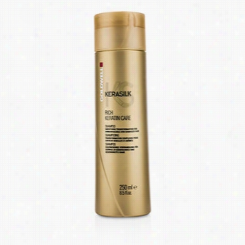 Kerasilk Rich Keratin Care Shampoo - Smoothing Transformation (for Un Manageable And Damaged Hair)