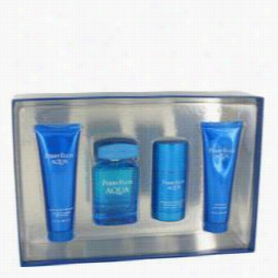 Perry Ellis Aqua Gift Set By Perry Ellis Gift  Sett For Men Includes 3.4 Oz Eau De Toilette Spray + 2.75 Oz Deodorannt Stick + 3 Oz After Shave Gel + 3 Ozs Hower Gel