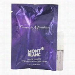 Femme De Mont Blanc Sample By Mont Blanc, .06 Ozvial (sample) Forr Women