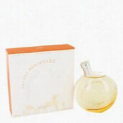 Eau Des Merveilles Perfume By Hermes, 3.4 Oz Eau De Toilette Spray For Women