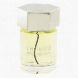 L'homme Cologne By Yvse Saint Laurent, 3.4 Oz Eau De Toieltte Spr Ay (tester) For Men