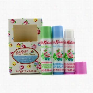 Wild Flowers Lip Balm Set: Wild Rose 5g + Bluebell 5g + Honeysuckle 5g